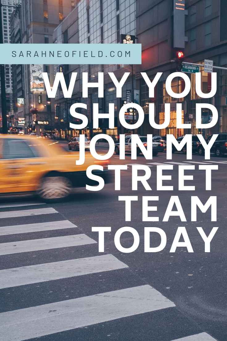 Why You Should Join My Street Team TODAY :)